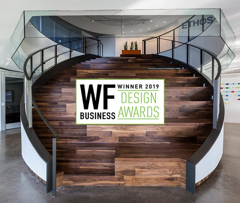 2019 Winner of Best Stairs by Wood Floor Magazine Woodwright