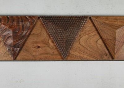 Concept to Completion | Plank Wall with Pyramids | Woodwright