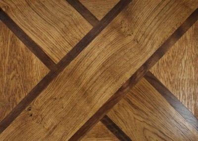 Custom Double Hand-Scraped Floor Pattern | Woodwright