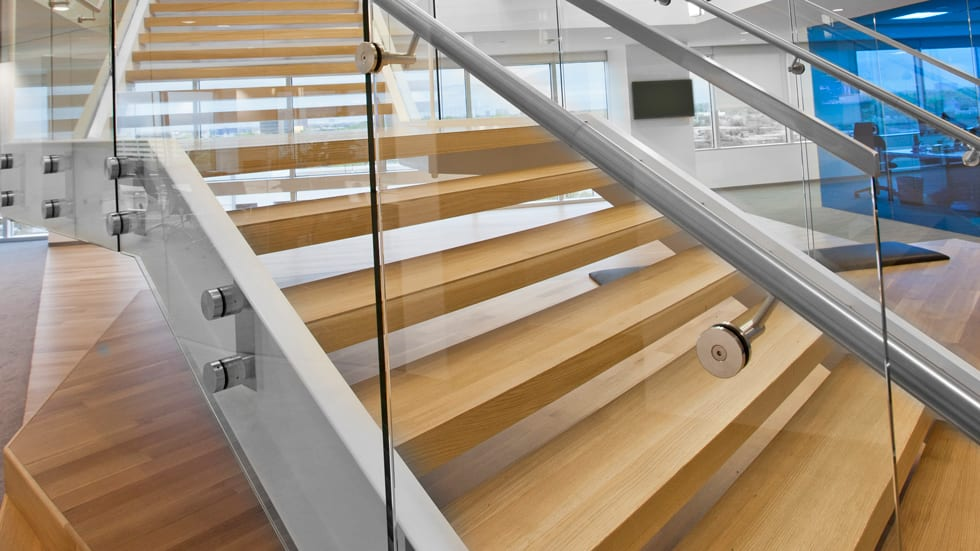 How to Specify Wood on Commercial Stairs