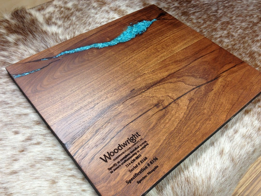 Turquoise Filled Mesquite | Woodwright