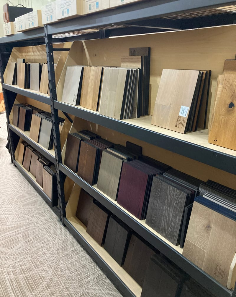 Wood Color Samples from Woodwright Showroom