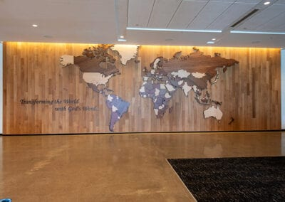 CNC World Map Wide Shot | Woodwright