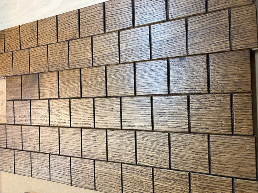 Concept for End Grain Look on Ceilings | Woodwright
