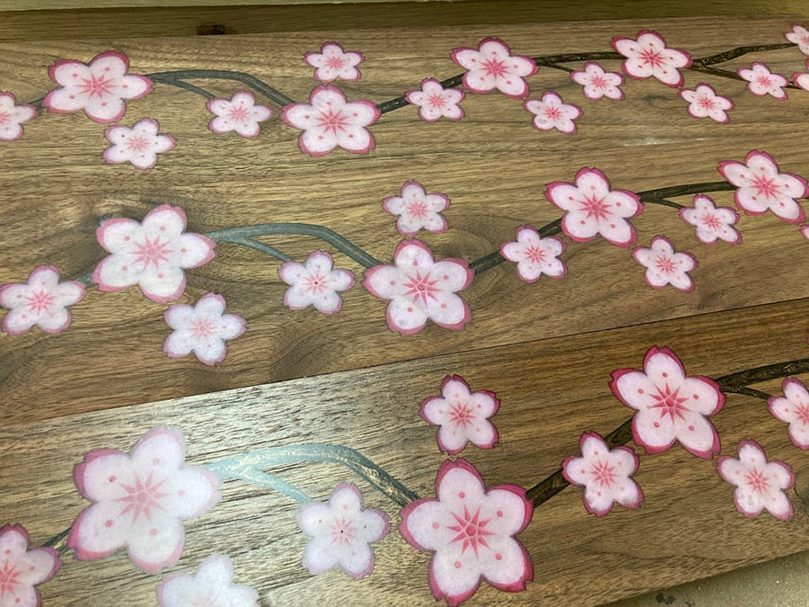 Epoxy Cherry Blossoms | Woodwright