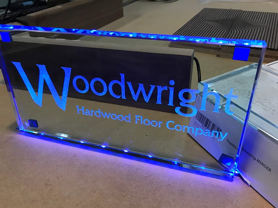 Glass Etched Riser | Woodwright