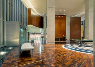 Hunt Oil Main Lobby | Flooring by Woodwright