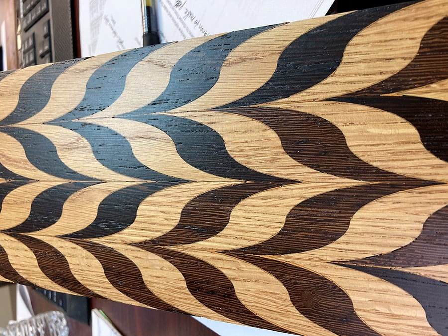 Laser Cut Curved Chevron Pattern | Woodwright
