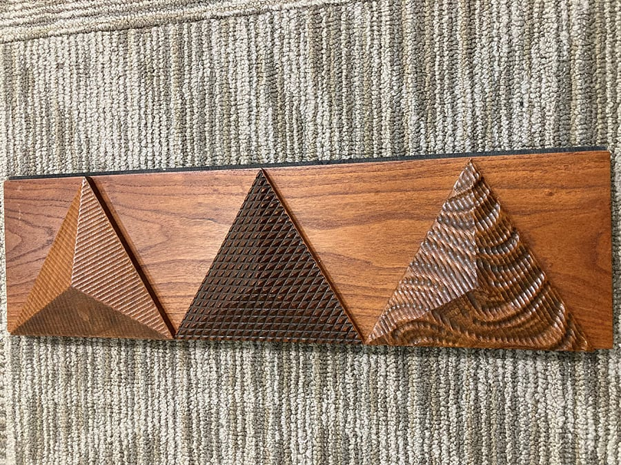 Pyramids with CNC Designs | Woodwright