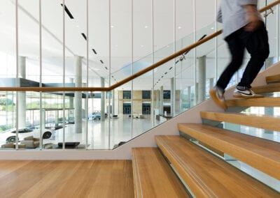 Toyota Wooden Stairs by Woodwright