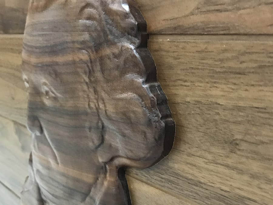 Wall with 3D Carving insert | Woodwright