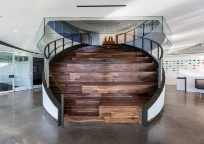 Walnut Social Stairs by Woodwright