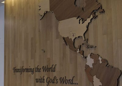 World Map CNC Vertical Picture | Woodwright