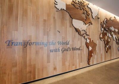 World Map CNC Wide Angle | Woodwright